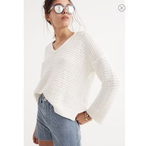 Madewell Breezeway Pullover Sweater Open Knit